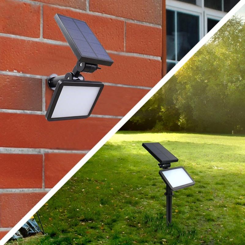 Wall Top Solar Lights : Hooree solar light SL-50C 48 LED Super Bright Adjustable Angle Solar Wall Light Lawn Light for ...