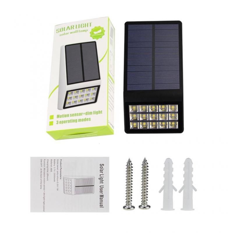 Hooree solar light SL-860 15 LED Outdoor Super Bright Solar Wall Lamp Solar Garden light - Green ...